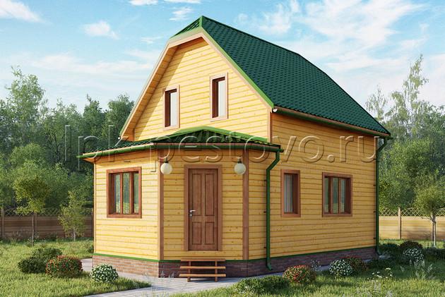 Дом из бруса 6х8,5 ТД11
