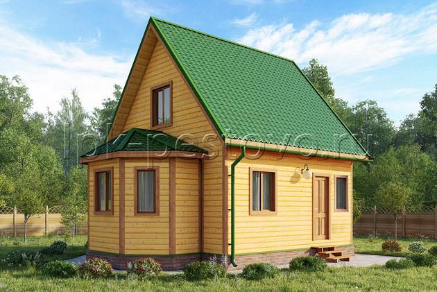 Дом из бруса 6х8 ТД12