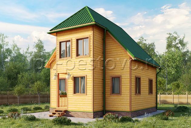 Дом из бруса 7х7,5 ТД15