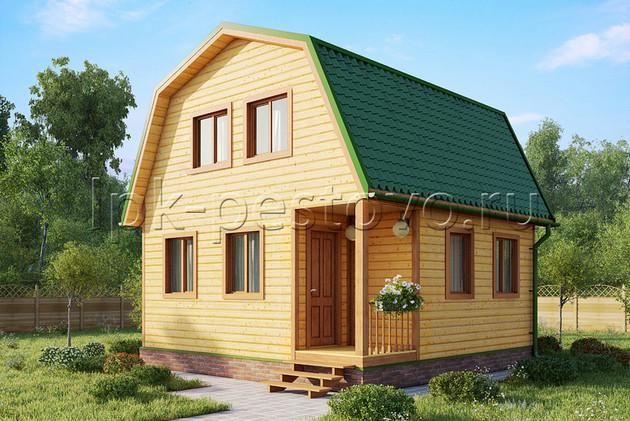 Дом из бруса 6х6 ТД17