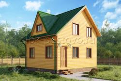 Дом из бруса 6х7 ТД18