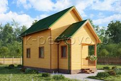 Дом из бруса 6х9 ТД19