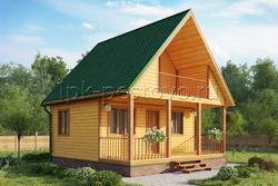 Дом из бруса 6х6 ТД1
