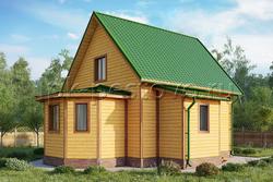 Дом из бруса 9,5х10 ТД21