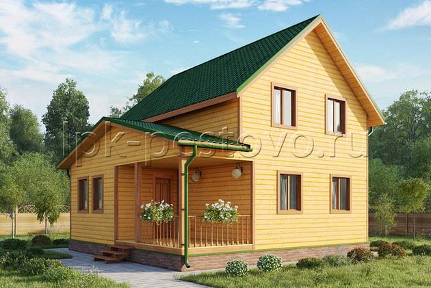 Дом из бруса 8х8 ТД22