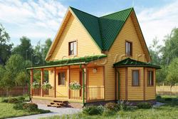 Дом из бруса 8х9 ТД23