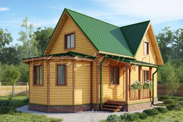 Дом из бруса 8,5х11 ТД24