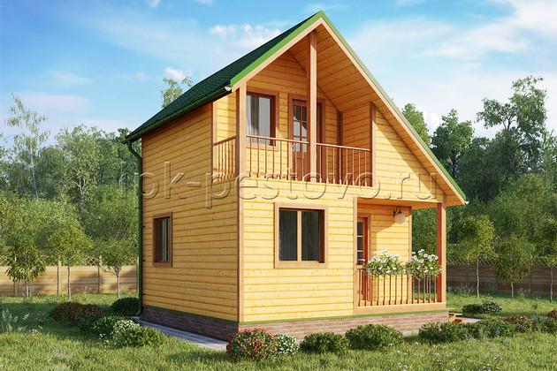 Дом из бруса 6х6 ТД26