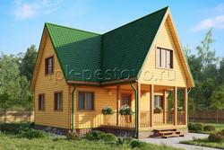 Дом из бруса 8х9 ТД27