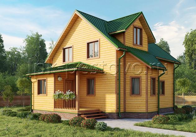 Дом из бруса 8,5х10,5 ТД29