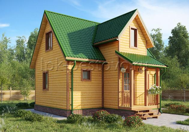 Дом из бруса 6,5х8 ТД30