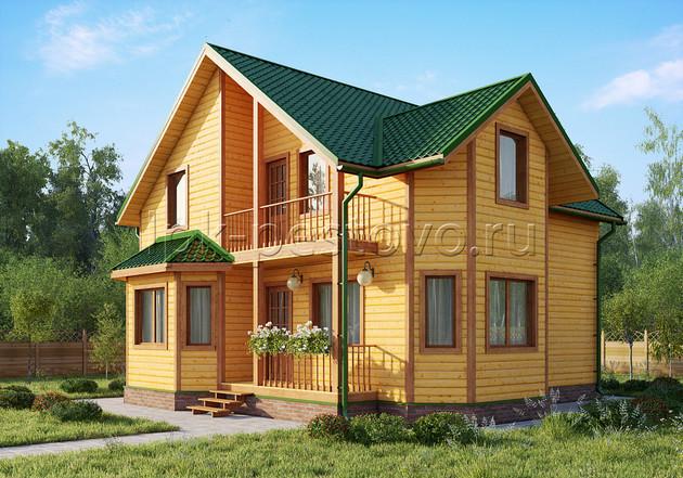 Дом из бруса 9х11 ТД31