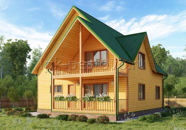 Дом из бруса 10х13,5 ТД32