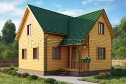 Дом из бруса 8,5х8,5 ТД33