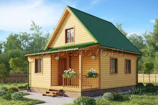 Дом из бруса 6х8 ТД4