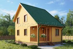 Дом из бруса 6х8 ТД6