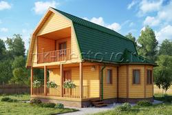 Дом из бруса 8х8 ТД7
