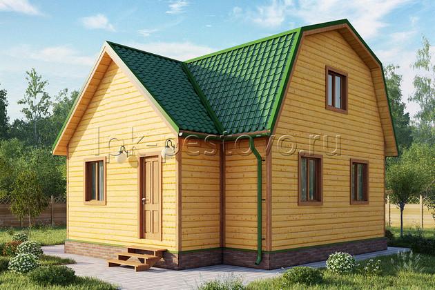 Дом из бруса 7,5х8 ТД3