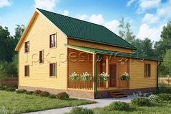 Дом из бруса 9х12 ТД35